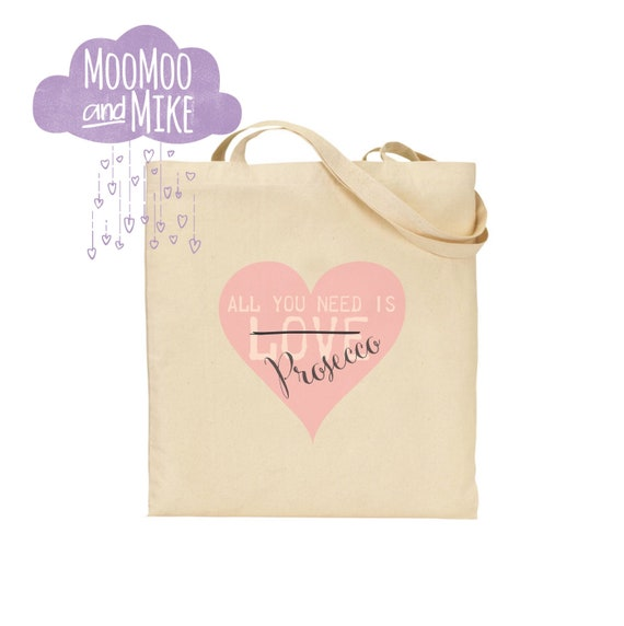 All you need is prosecco tote bag | Personalised tote bags | Hen party | Gift bags | Totes