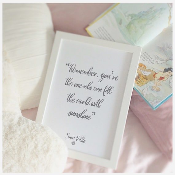 Disney print | Snow White quote | Wall prints | Wall decor | Home decor | Print only | Typography