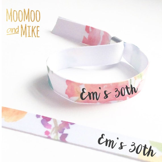Personalised wristbands | Add any text | Wedding wristbands  | Team Bride | Hen party wristband | Hen favours | Save the dates
