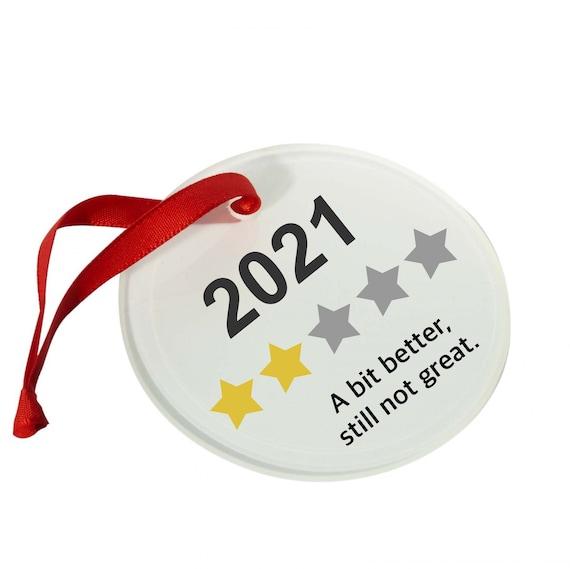 2021 bauble | Review 2021 A bit better | Novelty hanging ornament | Christmas bauble | Christmas decor | Secret Santa