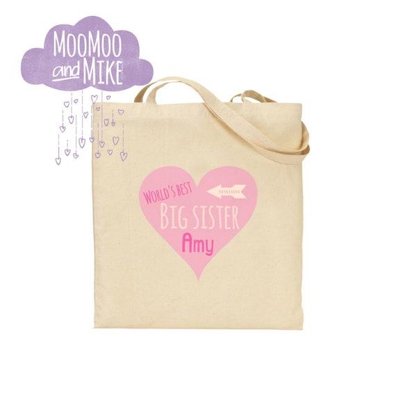 Personalised tote bag | Kid's bag | Children's tote bag | School bag | Big sister | Big brother | Gift bags