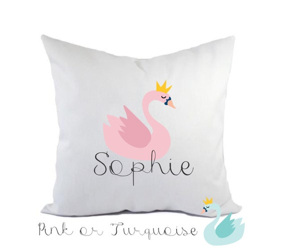 Children's Swan pillow | Decorative cushion cover | Children's cushion | Nursery decor | Personalised pillows | Bedroom decor
