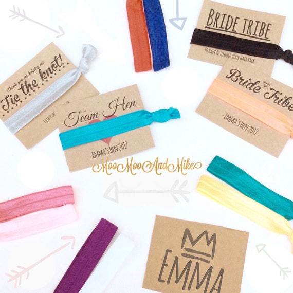 Hair ties | Customisable elastic hair tie | Favours | Hen party favours | Personalised favours
