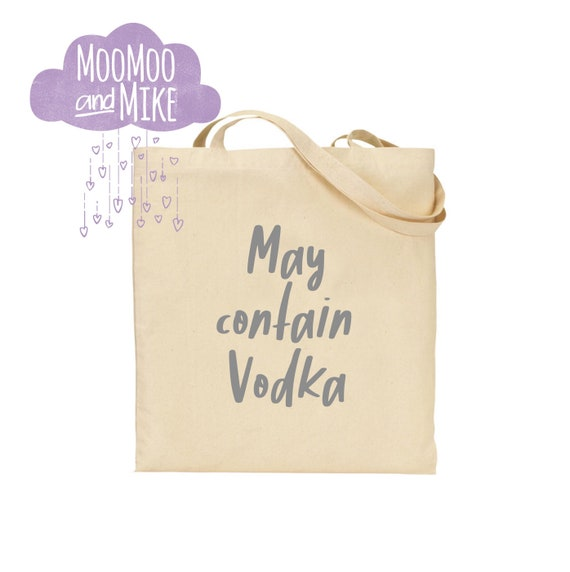 May contain gin tote bag | Add any text | Shopping bags |  bags | Tote bag