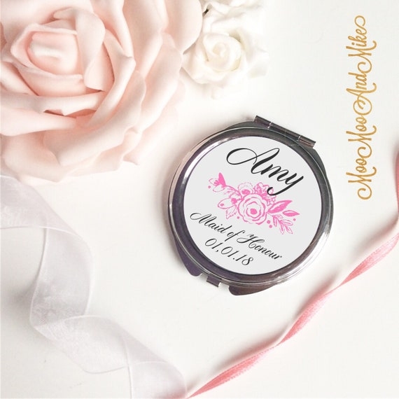 Compact Mirror | Gifts for brides | Bridesmaid gifts | Women's Accessories | Pocket Mirror | Made to order