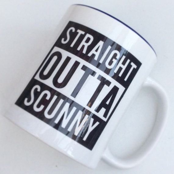 Straight outta personalised mug | Add any text | Personalised mug | Custom mug