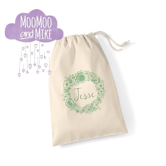 Personalised drawstring gift bag | Hen do bag | wedding gift bag | Flower girl bag | bridesmaid | Birthday gift bag | baby shower bag