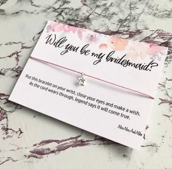 Wish bracelet | Will you be my bridesmaid | Wedding wish bracelet's | Maid of honour gifts | charm bracelet