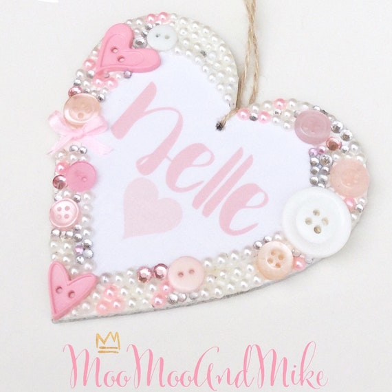 Personalised hanging heart | Any quote | Buttons | Baby gifts | Birthday gifts | Plaques | Wall decor | Heart plaque
