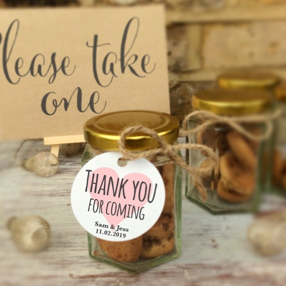 Cookie jar favours | Set of 4 | Wedding favours | Personalised favours | Party favours