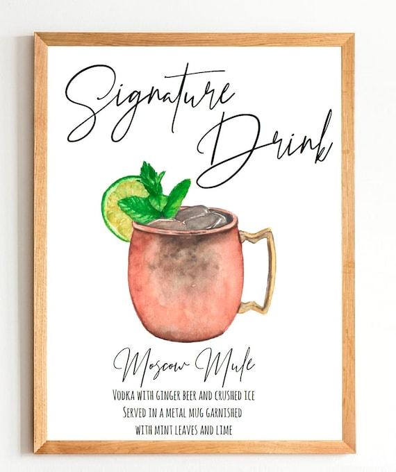 Signature Drink sign   Signature Cocktail Sign   Signature Drink Bar Sign   Wedding Cocktails