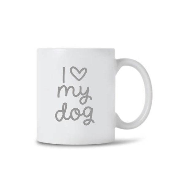 Personalised mug | I love my dog mug | Dog lover mug | pet gifts