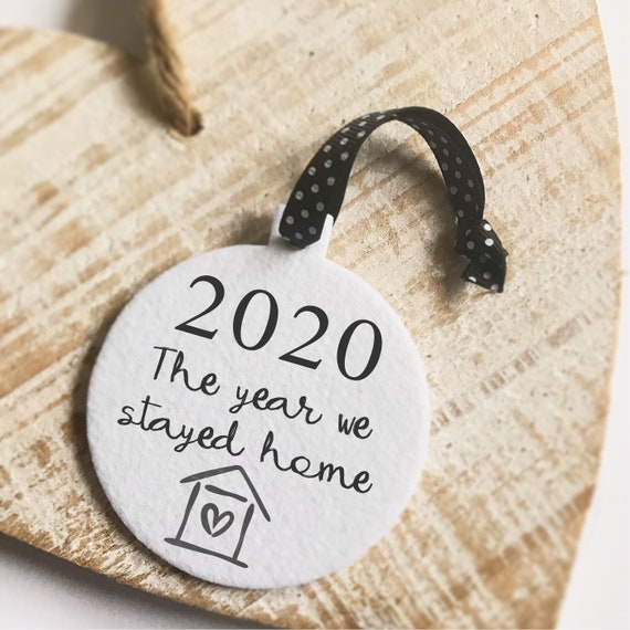 2020 the year we stayed home bauble | Fabric board | Christmas bauble | 2020 Christmas decor | Christmas decorations