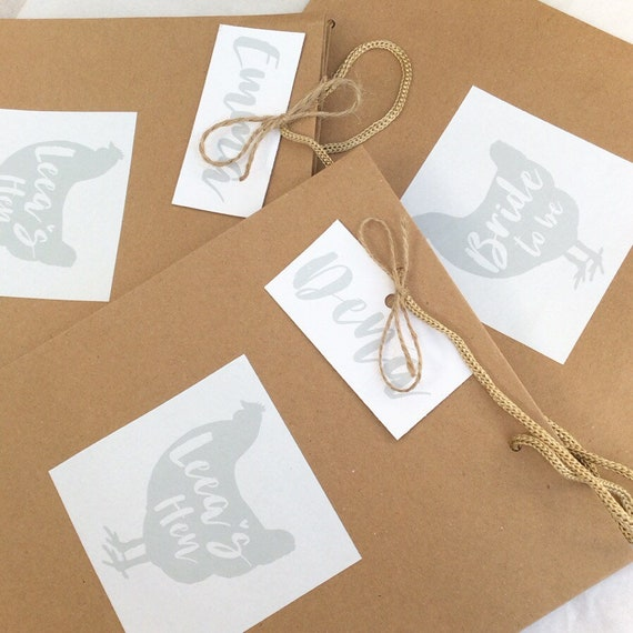 Hen party gift bag with personalised tag | Personalised hen gift bag | Hen party bags | Add any text