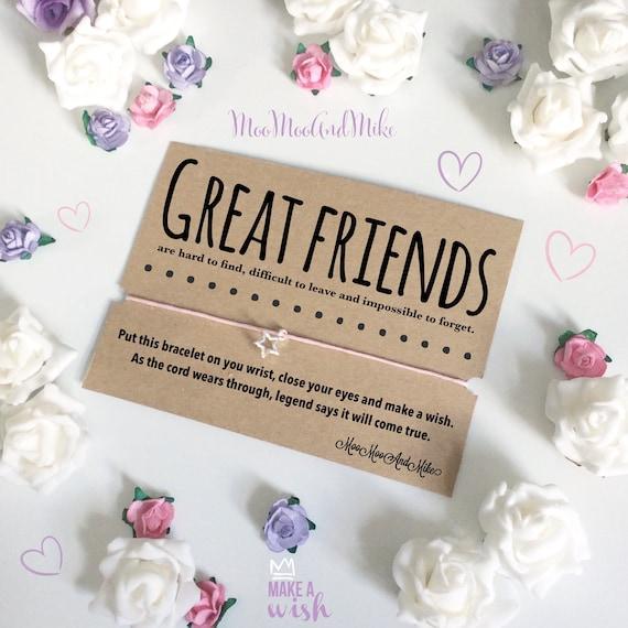 Wish bracelet | Great friends wish bracelet | Can be personalised | Friendship Bracelet | Wish band | Charm bracelet.