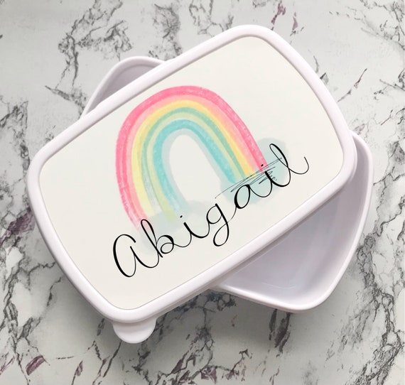 Personalised rainbow lunch box | Child's lunchbox | Lunch boxes | School lunch box | Back to school gifts | Snack box