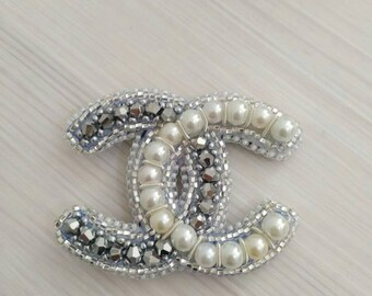 Chanel brooch white