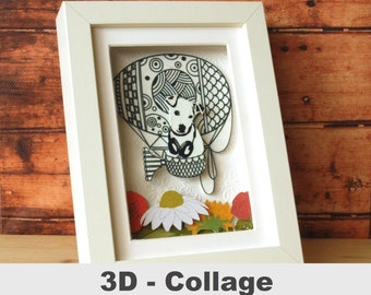 3D fabric picture dog unique customizable picture gift for dog owners dog friend collage