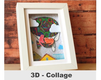 3D fabric picture cats unique cat picture customizable picture cat gift for cat fan cat lovers collage