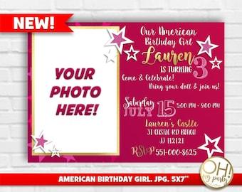 American girl invite etsy american girl invitation american birthday girl invitation american girl inviteamerican girl birthdayamericn girl partyamerican girl filmwisefo