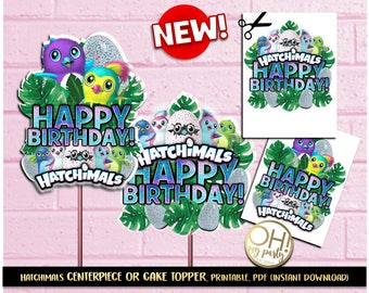 Hatchimals Center PieceHatchimals Cake TopperHatchimal Party Supplies Hatchimal PrintableHatchimals Instant Downloadhatchimalhatchimals