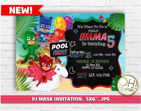 PJ MASK INVITATIONpj Mask Invitation Printablepj