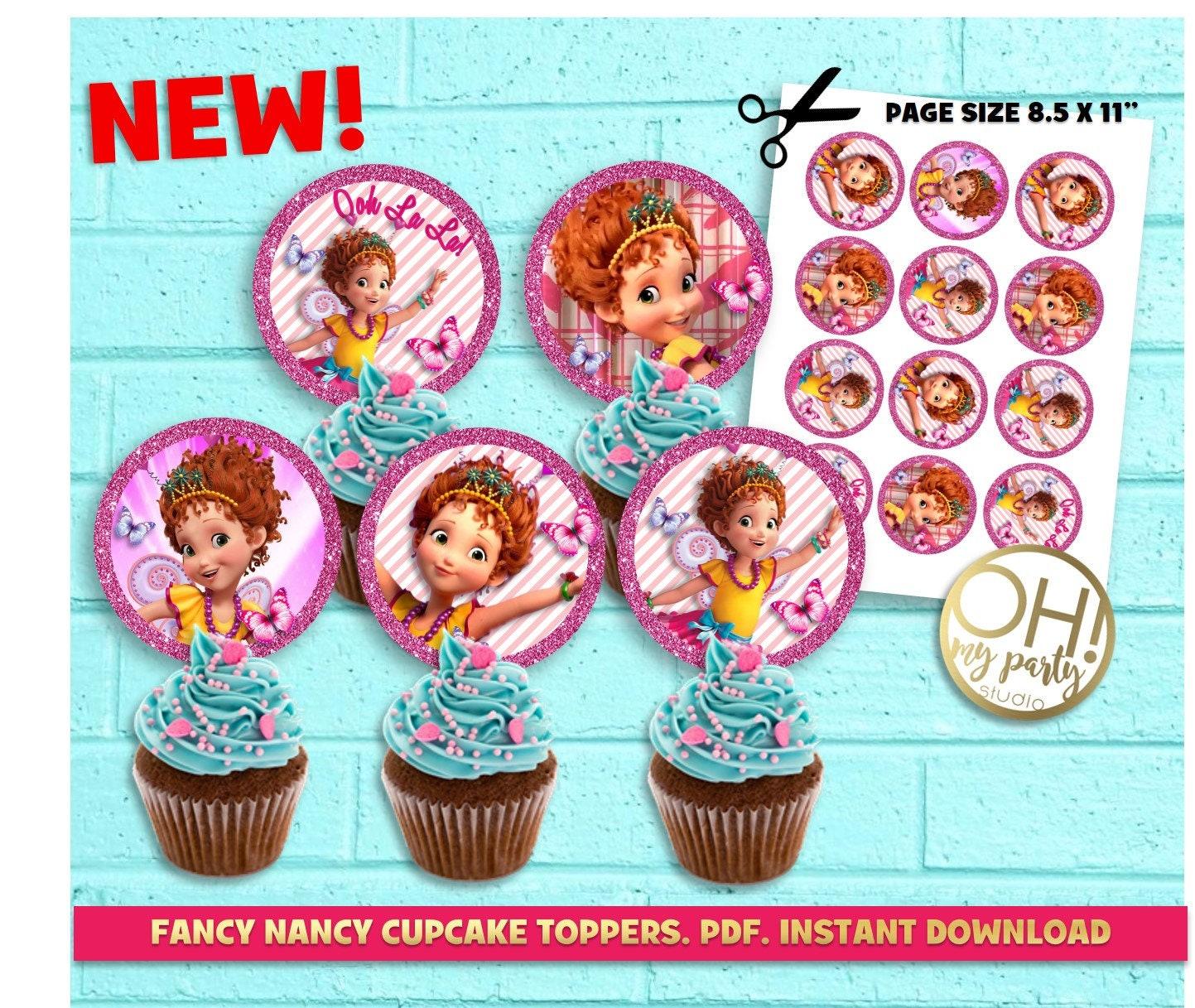 Fancy Nancy Cupcake ToppersFancy Nancy partyFancy Nancy   Etsy
