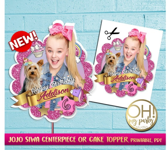 JOJO SIWA Cake Topper Jojo Siwa Party Suppliesjojo