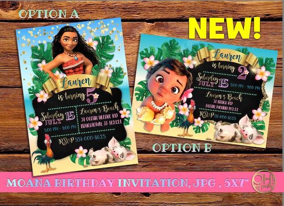 Moana Invitation Birthday Party
