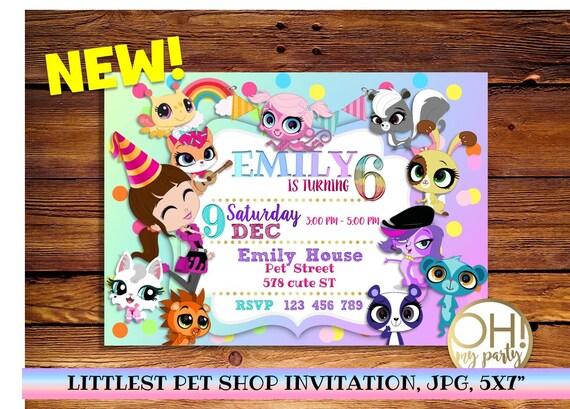 Littlest Pet Shop Invitation Littlest Pet Shop Partylittlest Etsy