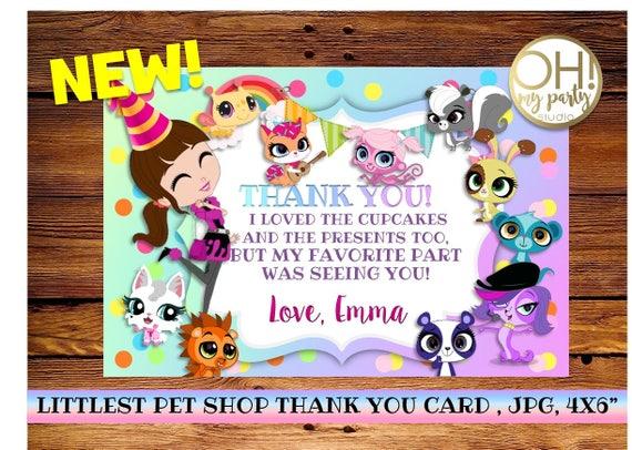Littlest Pet Shop Thank You Card Littlest Pet Shop Etsy