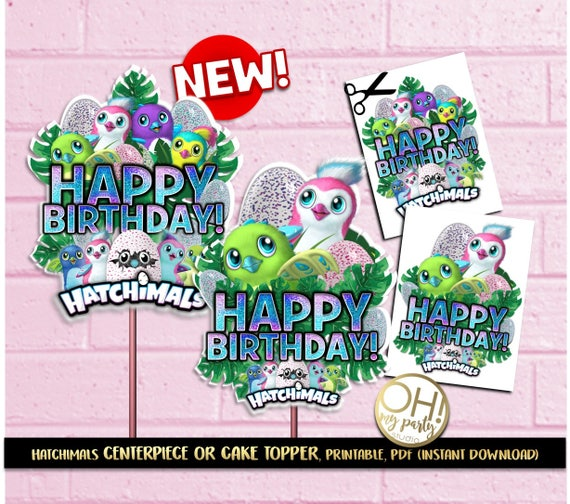 Hatchimals Center PieceHatchimals Cake TopperHatchimal Party