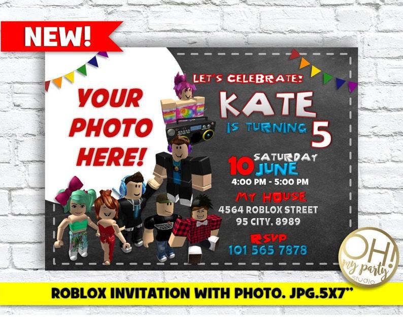 Roblox Invitation With Photoroblox BirthdayRoblox