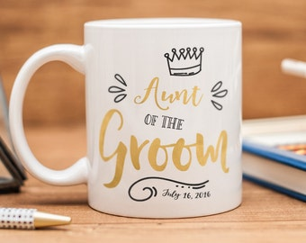 Aunt of the Groom mug, personalized Aunt of the Groom gift, Aunt of the Groom wedding favor