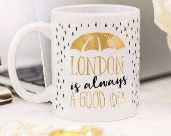 London mug, gift for someone who likes traveling