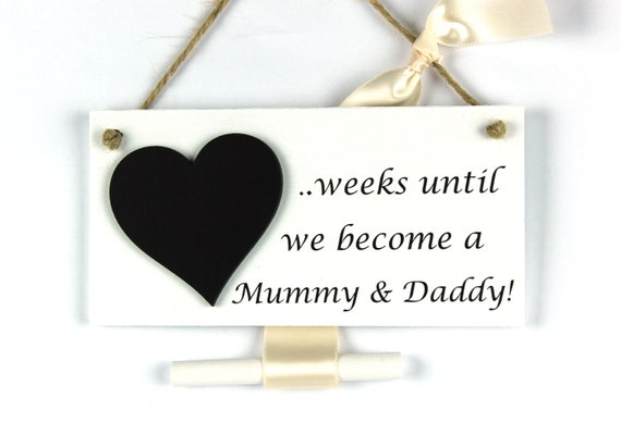countdown until Auntie /& Uncle Sign New Baby Pregnancy announcement plaque