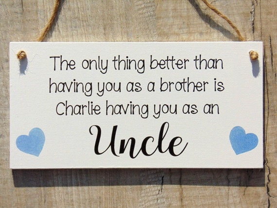 Personalised Uncle Brother Plaque