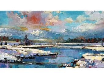 Scott Naismith (Glen Spean Snow) Art Print   50 x 100cm   PPR41146