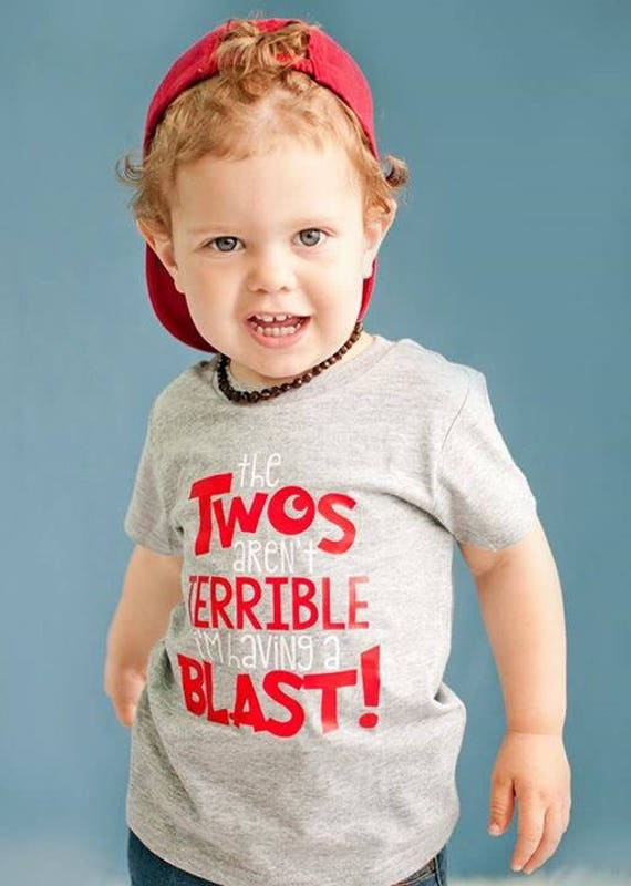 Terrible Twos Shirt Two Year Old Birthday 2 Boy Second Funny Toddler To