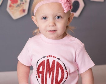 valentines day shirt, valentines day monogram shirt, girls valentines shirt, girls valentines day shirt, heart shirt, valentines day bodysui