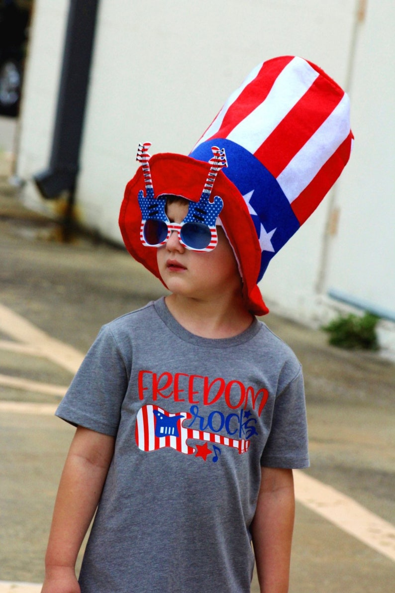 america shirt patriotic shirt red white and blue shirt kids 4th july shirt kids fourth july shirt Freedom rocks Independence Day shirt