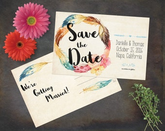 Bohemian-style Wedding Suite - Customized Printable