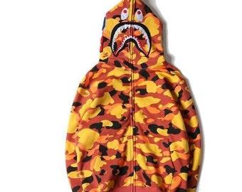 4c626b9d5642 A Bathing Ape Orange-Camo Combo Jacket