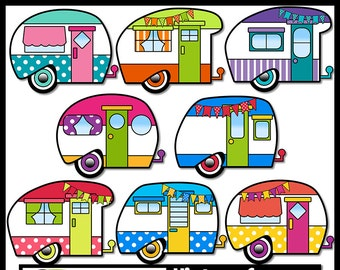 camper clipart etsy rh etsy com rv clipart pictures rv clipart images