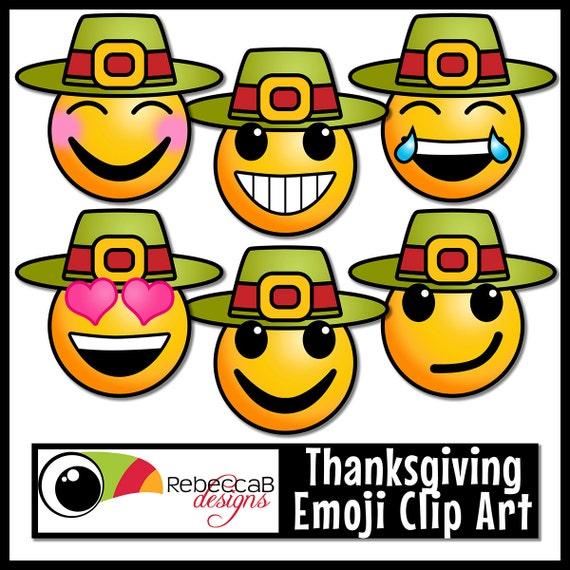 Thanksgiving-ClipArt-Grafik: Emoji Gesichter Emotionen | Etsy