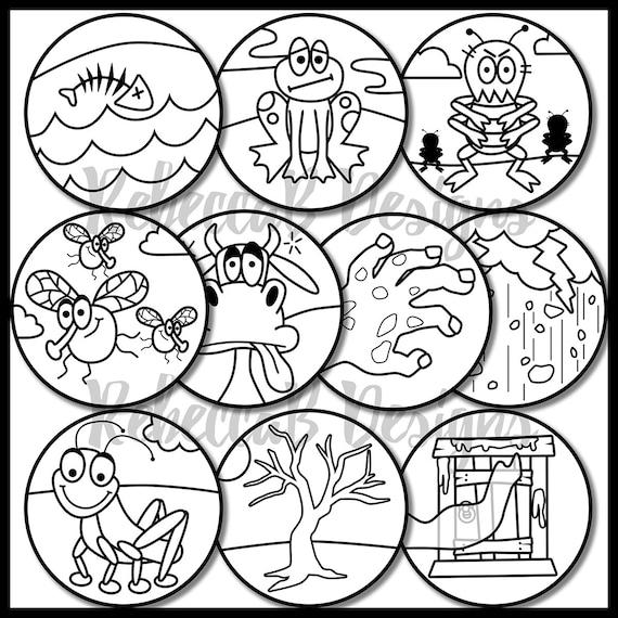 Diez plagas de Egipto Clip Art Moisés diez plagas Clip