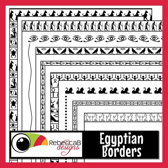 Jeroglíficos imágenes prediseñadas fronteras fronteras | Etsy