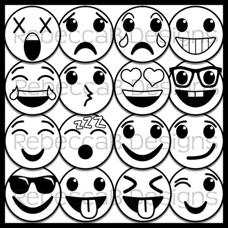 65 Emoji Clip Art Emoji Faces Smiley Faces Emotion Clip