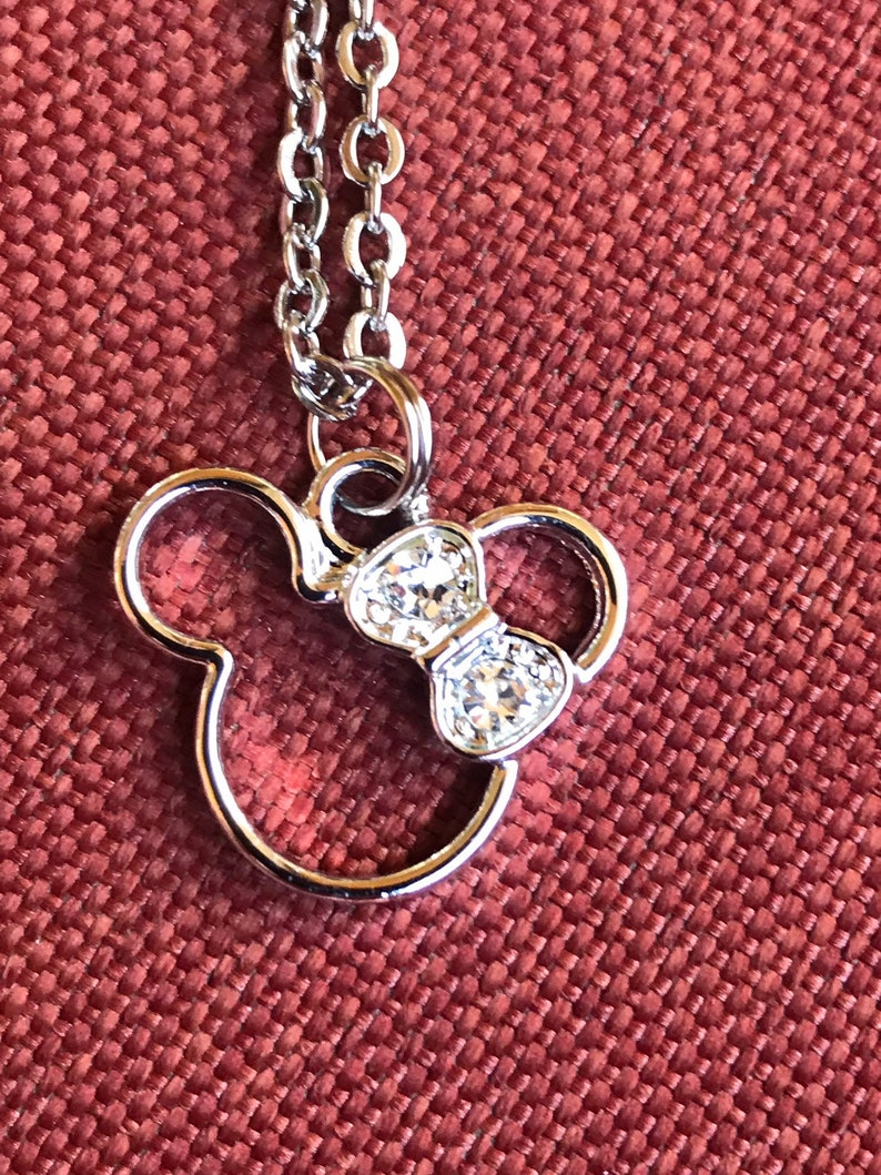 a1efca634 Minnie Mouse Necklace Disney Gift For Women Mickey Mouse   Etsy