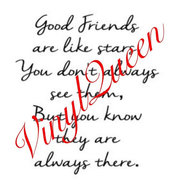 Good Friends Are Like Stars Vinyl Quote Frame Gift Friendship Etsy